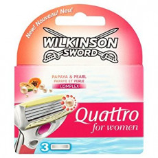 Лезвия Wilkinson Sword (Schick) Quattro  for women упаковка 3 штуки