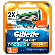 Лезвия Gillette Fusion ProGlide Power упаковка 2 шт