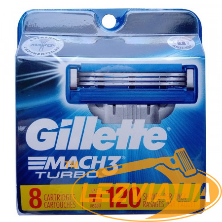 Лезвия Gillette Mach3 Turbo упаковка 8 шт США