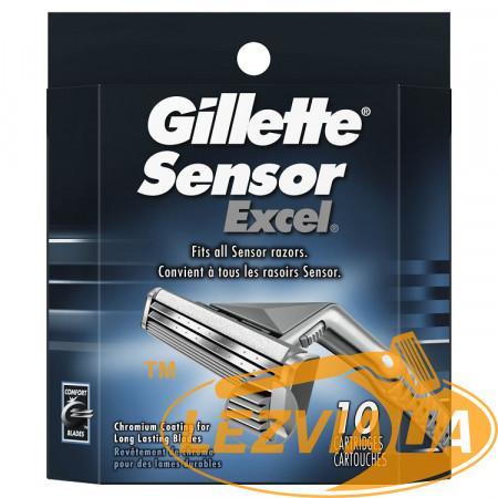 Лезвия Gillette Sensor Excel упаковка 10 шт США