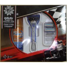 Набор Gillette Fusion Proglide Silver станок + 2 картриджа + гель 75 мл