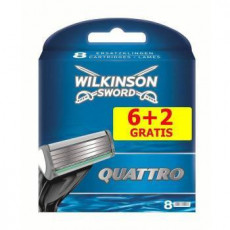 Лезвия Wilkinson Sword (Schick) Quattro упаковка 8 штук