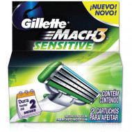 Лезвия Gillette Mach3 Sensitive упаковка 2 шт