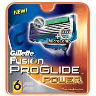 Лезвия Gillette Fusion ProGlide Power упаковка 6 шт