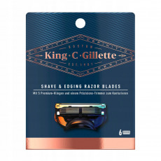 Лезвия King C. Gillette упаковка 6 штук США