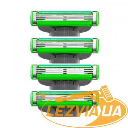 Лезвия Gillette Mach3 Sensitive 4 штуки без упаковки