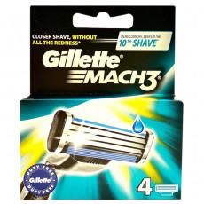 Лезвия Gillette Mach3 упаковка 4 шт