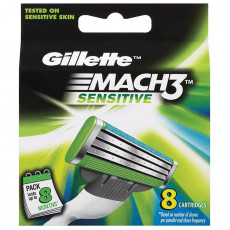 Лезвия Gillette Mach3 Sensitive упаковка 8 шт