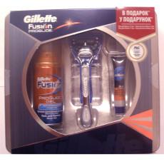 Набор Gillette Fusion Proglide Silver станок + гель для бритья 75 мл + бальзам после бритья  9 мл