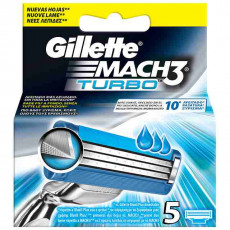 Лезвия Gillette Mach3 Turbo упаковка 5 шт