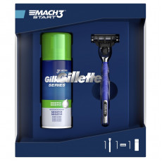 Набор Станок Gillette Mach3 Start + Пена для бритья Gillette Series Sensitive Skin 100 мл