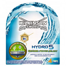 Лезвия Wilkinson Sword(Schick) Hydro5 Groomer*Power Select упаковка 4 штуки
