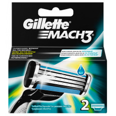 Лезвия Gillette Mach3 упаковка 2 шт