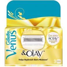 Лезвия Gillette Venus Olay упаковка 3 картриджа