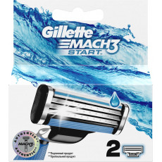 Лезвия Gillette Mach3 Start упаковка 2 шт