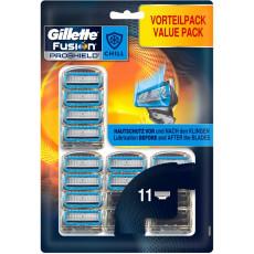 Лезвия Gillette Fusion Proshield Chill 11 картриджей на планшете